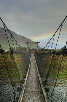 Free Footbridge And Rainbow Royalty Free Stock Images - 14924149