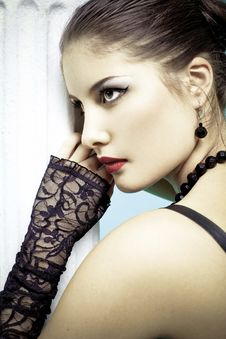 Free Beautiful Fashion Girl On The White Background Stock Images - 14924214