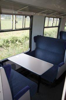 Empty Train Carriage Seats Stock Photos