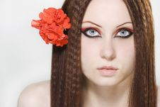 Free Portrait Of Young Woman With Make-up Royalty Free Stock Photo - 14924405