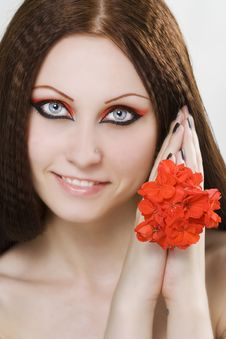 Free Portrait Of Young Woman With Make-up Royalty Free Stock Image - 14924406