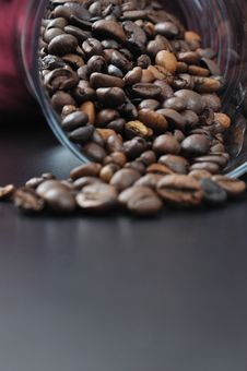 Free Pure Glass With Coffee Granules. Royalty Free Stock Image - 14924906