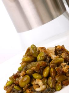 Free Pig Meat With Green Beans Stock Photos - 14925053