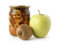 Apple Kiwi And Apple Jam Royalty Free Stock Image