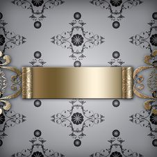 Free Background With Golden Motive Royalty Free Stock Images - 14926479