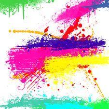 Free Grunge Background With Splash Royalty Free Stock Image - 14926676