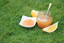Free Lemon Jam On The Green Grass Royalty Free Stock Image - 14926906