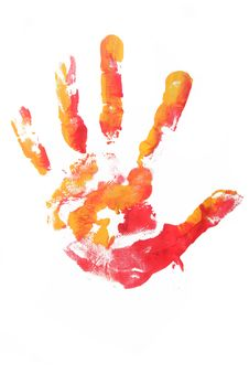 Free Colorful Hands Child Printed Stock Images - 14927234