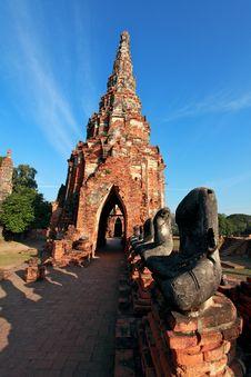 Watchaiwattanaram Temple.Ayutthaya.Thailand Stock Image