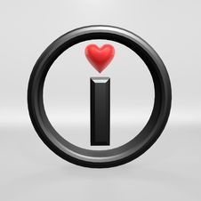 Free I Love Red Heart Royalty Free Stock Photos - 14928238