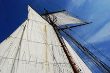 Free Sails Of Antique Sailing Ship Lynx Stock Photography - 14928492