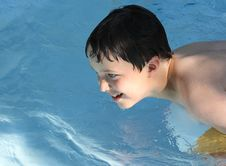 Free Sunlit Boy In Pool Royalty Free Stock Photos - 14928608