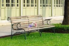 Free Bouquet On Bench Stock Photos - 14928663