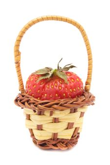 Free Strawberry In Basket Stock Image - 14928821