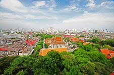 Free Thai Temple And View Of Bangkok Royalty Free Stock Photos - 14928868