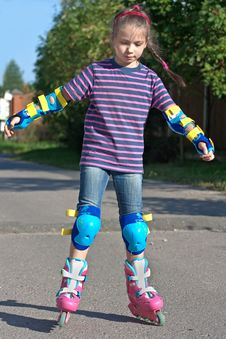Free Girl On Roller Blades Royalty Free Stock Photo - 14929855