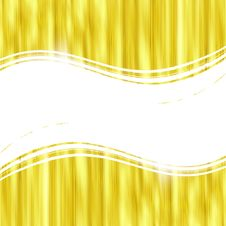 Gold Striped Background Stock Image