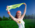 Free Smiling Girl With Kerchief Royalty Free Stock Images - 14933409