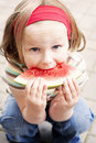 Free Girl Eating Watermelon Stock Images - 14934124