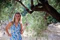 Free Woman With Olive Trees Royalty Free Stock Images - 14937029