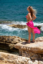 Free Woman On Exotic Beach Royalty Free Stock Photo - 14938295