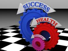Free Health-gears Royalty Free Stock Image - 14930426