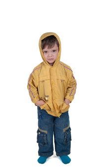 Child In Jacket Royalty Free Stock Photography