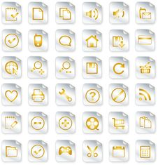 Free Universal Icon Set Royalty Free Stock Images - 14931189