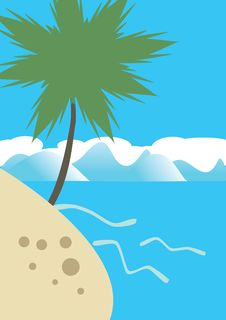Palm On The Tropical Beach Royalty Free Stock Image
