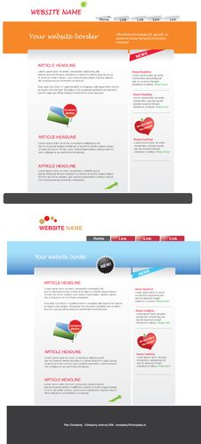 Free Web 2.0 Template Pack Stock Photo - 14931320