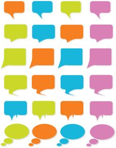 Free Speech Bubbles Royalty Free Stock Images - 14931469