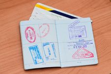 Free Passport Stamps Royalty Free Stock Image - 14931706