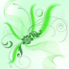 Free Green Background With A Bouquet Stock Photography - 14932002