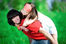 Free Long-haired Girl With Boy Royalty Free Stock Photos - 14932988