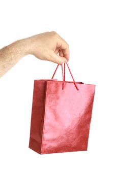 Free Paper Bags In Male Hand Royalty Free Stock Image - 14933266