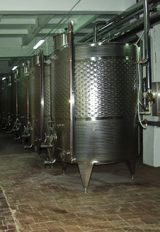 Wine Factory Stock Photo