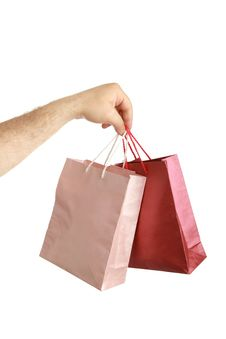Free Paper Bags In Male Hand Stock Images - 14933334