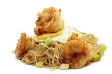 Rice Noodle Egg Shrimp Royalty Free Stock Photography