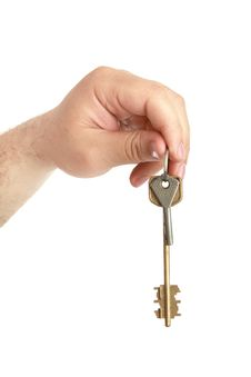 Free Man S Hand With Lock Key Royalty Free Stock Photography - 14933517