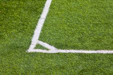Free Football Field Corner Royalty Free Stock Image - 14933596