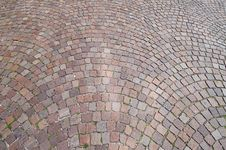 Old Street Coated Paving Stone Royalty Free Stock Photos