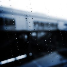 Rain Drops On A Glass Royalty Free Stock Images
