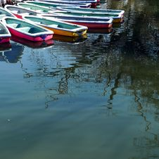 Boats On A Pond Stock Photo