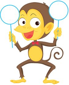 Free A Monkey Showing Boards Royalty Free Stock Photo - 14934805
