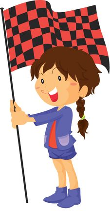 Free A Girl Holding Flag Royalty Free Stock Photo - 14934815