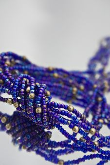 Free Blue Bead Strands Stock Images - 14935074