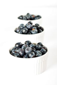 Free Fresh Organic Blueberries In Ramekins Royalty Free Stock Photo - 14935125