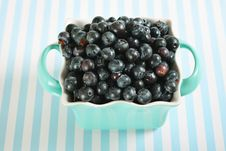 Free Bowl Of Blueberries On Lines Stock Photography - 14935182