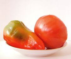 Pepper, Tomato, Vegetables Royalty Free Stock Photo