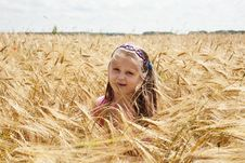 Free Girl In The Field Royalty Free Stock Images - 14935769